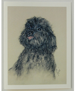 Toy Poodle Dog Art Note Cards Solomon - $12.50