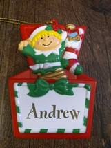 Stravina Elf Santa's Helper Andrew Package Tag Personalized Hanging Orna... - $29.35
