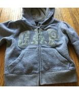 Baby Gap Clothing Hooded Zip Sweat shirt Toddler Girl 3T Grey winter Swe... - $16.82