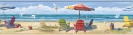 Summer at the Beach Wall Paper Border Chesapeake Wallcovering CT46091B - $20.25