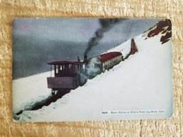 SNOW DRIFT AT PIKE'S PEAK COG ROAD,COLORADO.VTG UNUSED POSTCARD*P22 - $14.01