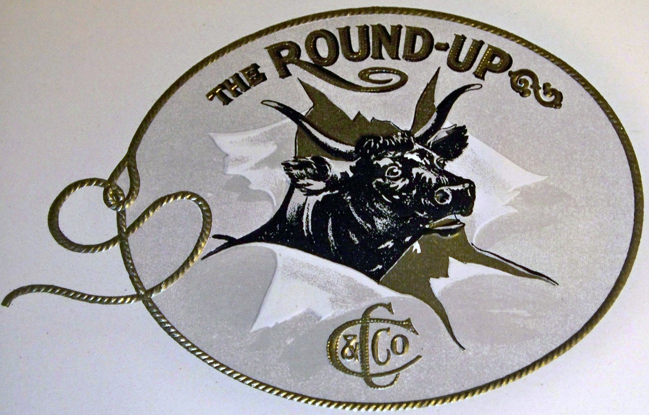 The round up inner cigar label 002