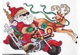 Biker Santa L190 cross stitch chart Stoney Creek - $6.75