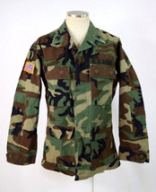 Hot Weather Woodland Camo Combat Coat US ARMY Airborne Military Field Ja... - $19.79
