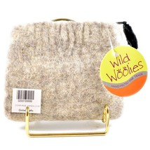 Wild Woolies Handmade Felted Wool Panda Family Coin Purse Bag Made in Nepal image 2