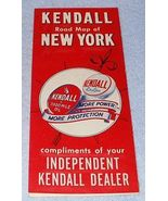 Vintage Kendall Oil Co New York Service Station Map Ca. 1950s - $7.95
