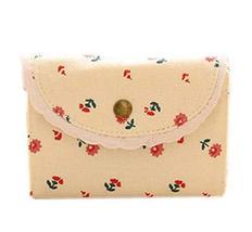 Floral Credit Card Case Bag Holder with 20 Card Slot, White