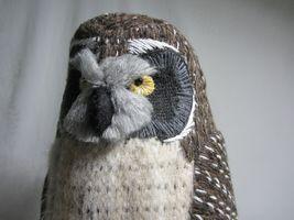 Hawaiian Pueo Owl Sculpture Figurine Handwoven Fabric Yarn Fiber Art Spitz-Nagel image 7