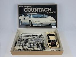 1984 Lamborghini Countach LP500S Fujimi Model 1/16 scale Started w/ loose parts - $93.49