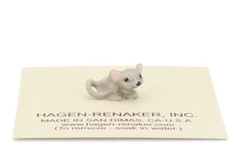 Hagen Renaker Miniature Mouse Baby Curled Tail Ceramic Figurine image 1