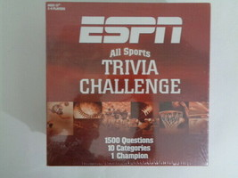 ESPN All Sports Trivia Challenge Board Game NEW Factory Sealed - $19.59