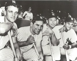 Mickey Mantle R Maris Berra Skowron 8X10 Photo New York Yankees Baseball Picture - $3.95