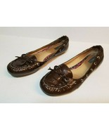 SPERRY Top Sider Brown Leather Loafers Dress Shoes Women Size 8.5 Gloss - $24.99