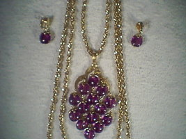 Trifari Neckless & Matching ear-rings~~vintage 1960's - $249.95