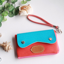[Sun and Sky] Colorful Leatherette Case Clutch Pouch - $10.99
