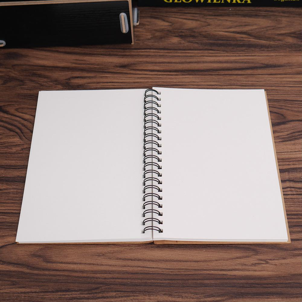 Sketch Book Memo Pad Notebook Drawing Painting Soft Cover Black School Supplies
