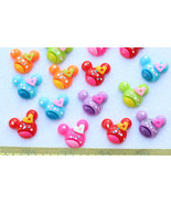 set of 40 pcs Assorted kawaii Resin Mouse polka Dots heart bow Cabochon ... - $3.95