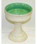 Vintage Pebbled Glaze Pottery Compote - $19.99