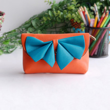 [Orange Wine] Colorful Leatherette Clutch Shoulder Bag - $12.99