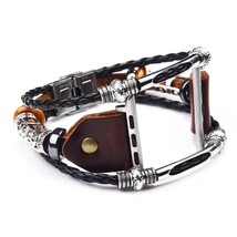 Vintage PU Leather Watch Band for  Watch Series 4/3 Replacement Bead Bra... - $22.23