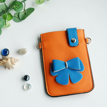 [Color Collision] Colorful  Leatherette Mobile Phone Pouch - $8.99