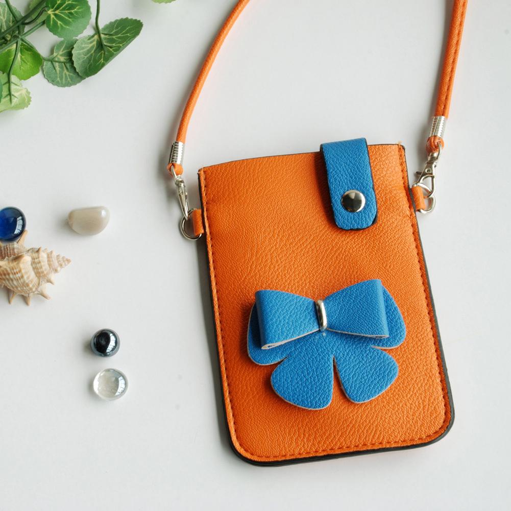 [Color Collision] Colorful  Leatherette Mobile Phone Pouch