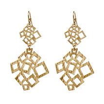 Amrita Singh Gold Gramercy Geometric Drop Dangle Earrings ERC 256 NWT  - $29.21