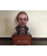 Mozart Bust Music Box Anri Mozart's Drawing Roo... - $225.00