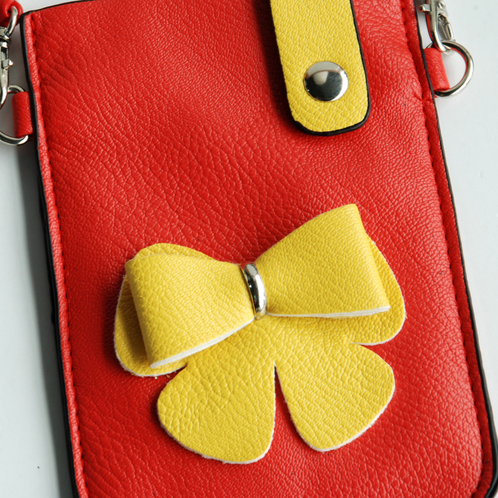 [Exclusive Queen] Colorful  Leatherette Mobile Phone Pouch