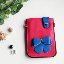 [Cherry's Secret] Colorful  Leatherette Mobile Phone Pouch - $8.99