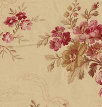 """Fabric sheeting:quilt sew yardage strips  yd x 10"""" tan, deep red, nice and soft - $1.48"""