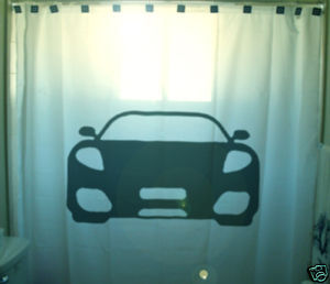 SHOWER CURTAIN Car sports fast cool furious speed race
