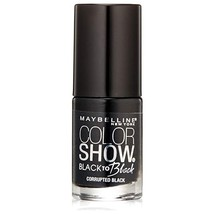 Maybelline Color Show Back to Black Nail Polish, 708 Corrupted Black  - $5.83