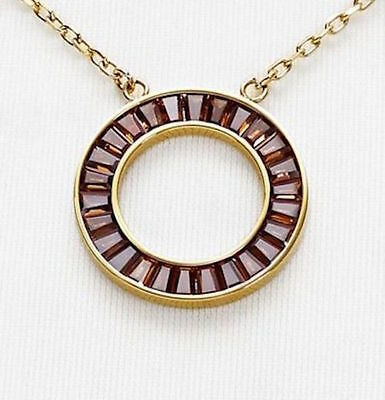 Primary image for Michael Kors Necklace Brilliance Montana Baguette Circle NEW $115