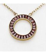 Michael Kors Necklace Brilliance Montana Baguette Circle NEW $115 - $74.25