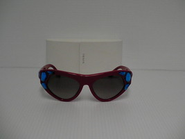 Prada New Sunglasses Womens Cat eye SPR 21Q Red SMN-0A7 SPR21Q 56mm - $188.05