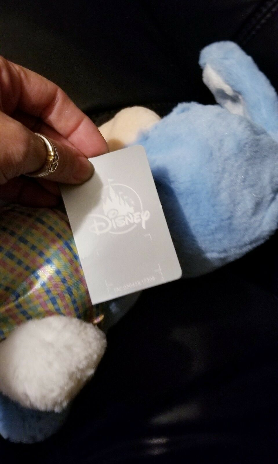 """New Disney Store Authentic Mickey Mouse Easter Bunny Blue Cute Plush 18"""" image 3"""