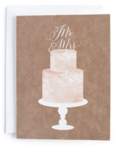 20ct Minted Wedding Bridal Shower Mr. and Mrs. Cake Topper Print Cards Envelopes