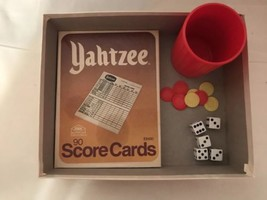Lot of VINTAGE E6100 Yahtzee Replacement Score Cards Pad  and Pieces - $9.74