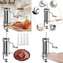 Goplus Stainless Steel Vertical Sausage Stuffer Maker Meat Filler Commer... - $44.54
