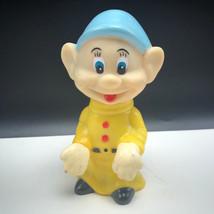 Walt Disney Seven Dwarfs Squeeze Toy Squeek 7 Dwarfs Figure Snow White Dopey Hat - $17.82
