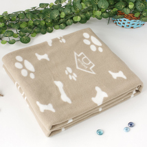 Blancho [Puppy Paws & Bones & Kennels] Coral Fleece Blanket - $18.99