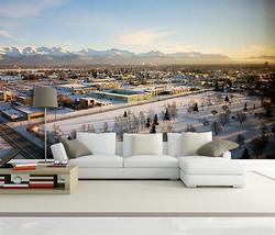 3D Schnee, Stadt 23 Fototapeten Wandbild Fototapete BildTapete Familie DE - $52.21+