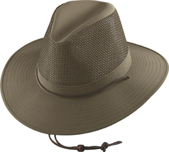 Henschel Firm Mesh Breezer Crushable Wide Brim Made In USA UPF 50+ Khaki... - $52.00