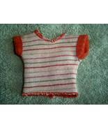 Vintage 1980s Barbie Striped Sweater Pullover V Open Back Fleece Lined  - $19.75