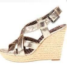 Womens Jessica Simpson CATALINA Espadrille Platform Sandal Wedge Rustic ... - $40.49