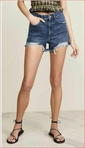 Neuf DL1961 Femme Jean Short Cleo Taille Haute 2312031 12099 Solana Bleu... - $36.72