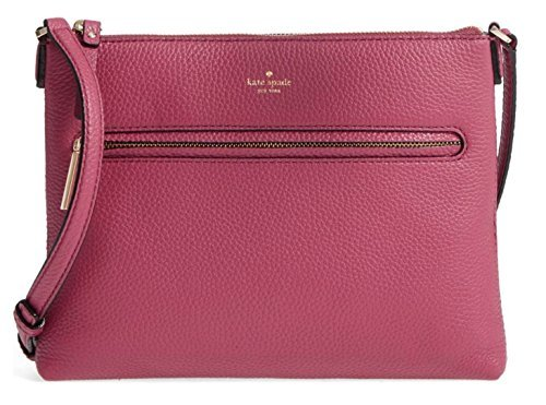 kate spade new york hopkins street - gabriele leather crossbody bag, cinnabar