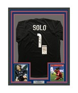 FRAMED Autographed/Signed HOPE SOLO 33x42 Black United States USA Jersey... - $399.99