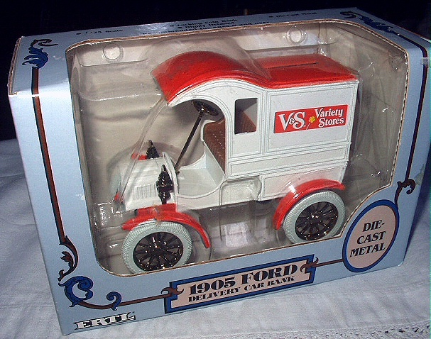 1988 ERTL-Die Cast Metal Bank-1905 Ford Delivery Car